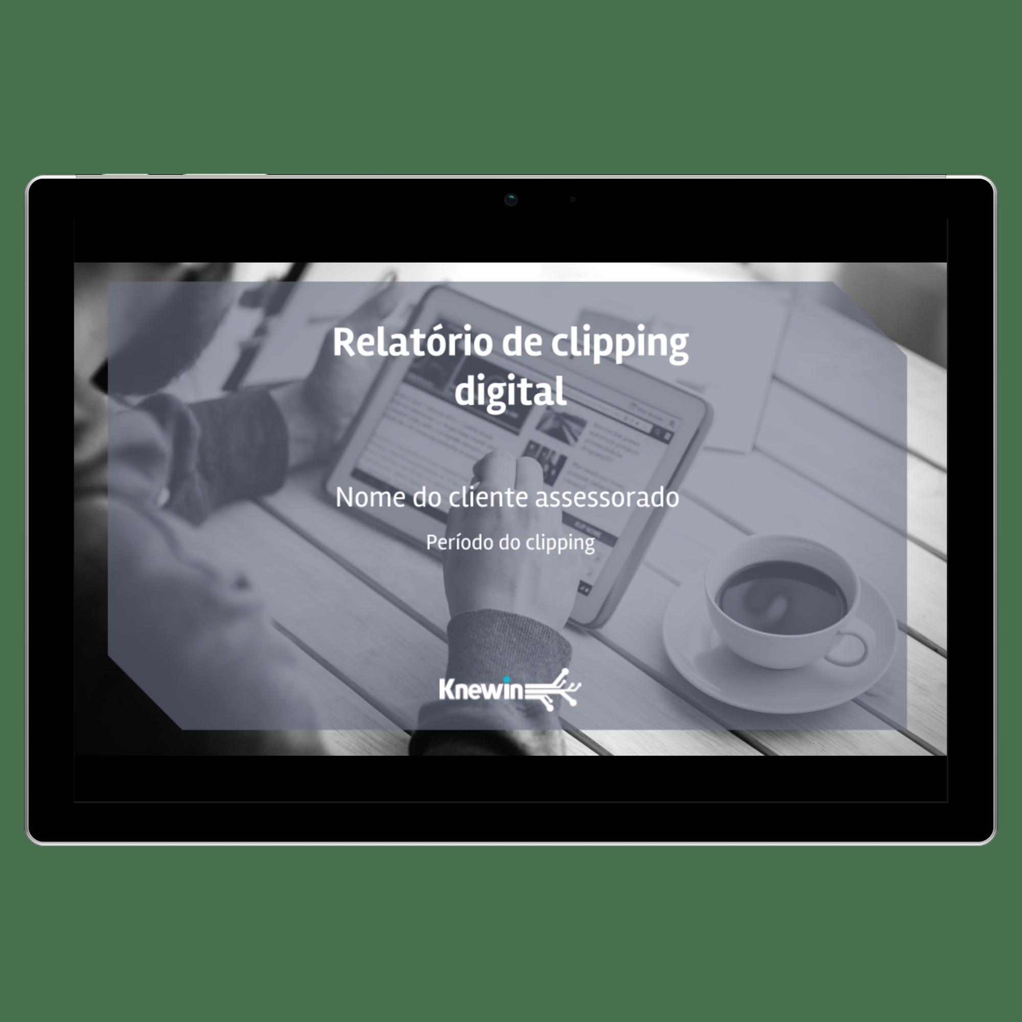 Modelo de relatório de clipping digital